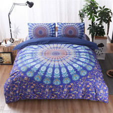 3pcs Mandala Duvet Cover  Queen Quilt Comforter Cover Bohemian Bedding Set Hot #