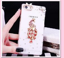 3D handmake Glitter Luxury Bling Diamonds Hard clear back Phone Case Cover #A8