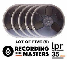 "LOT OF(5) LPR35 RTM PYRAL RMG RMGI TAPE REEL TO REEL 1/4"" x 1800' 7"" PLASTIC NEW"