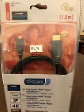 *High Speed HDMI cable by VIVANCO HDMI connector to HDMI D connector  1.5m*