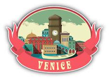 "Venice City Italy Emblem Car Bumper Sticker Decal 5"" x 4"""