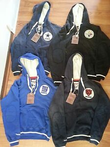 Mitchell & Ness NFL Throwback Pull-Over Hoodies, Cowboys or Giants, ALL NWT