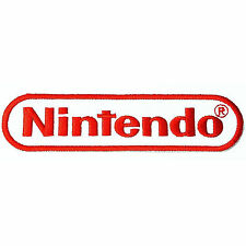 Nintendo 12cm x 2.8cm Logo Sew Ironed On Badge Embroidery Applique Patch