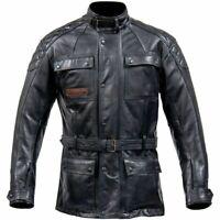Spada Berliner Motorcycle Motorbike Premium Leather Waterproof Jacket - Black