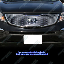 Fits 2011-2014 Kia Sportage SX Stainless Steel X Mesh Blitz Grille Grill Insert