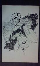 Thanos, Silver Surfer, Captian America  illustration comic art print by Ron Lim