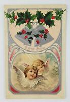 Postcard A Joyous Christmas Bells Angeles