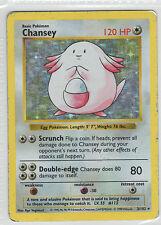 Chansey . Base Set . 3/102 . Pokemon TCG . DMG . Rare Holo Shadowless