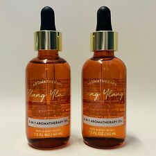 2 Bath & Body Works Ylang Ylang 3-in-1 Aromatherapy Essential Oil 1.5 fl.oz