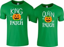King Queen of the Patch Halloween Couple matching funny cute T-Shirts