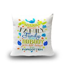 Ohana Means Family Lilo Stich Disney Hawaii Cool Dope Home Bedroom Pillow Cover