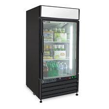 Maxx Cold Single 1 One Glass Door Commercial Merchandiser Cooler 12cf in Black