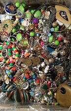 Vintage to Now 18 Lb of Broken Jewelry Lot Art Crafting, Scrap, Repurpose, Parts
