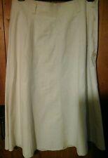 Beige linen look skirt by M&S