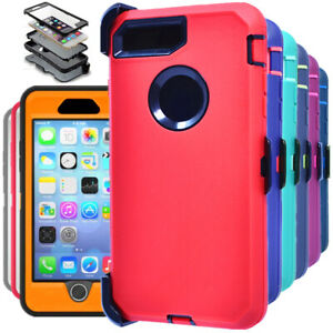 For iPhone 6 6s Plus Hard Case Shockproof Cover Belt Clip Fits Otterbox Defender