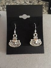 Antique Tibetan Frog Earrings, Sterling Silver (stamped) hooks, Lily Pad