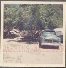 Vintage Photo 1955 Chevrolet Chevy Pickup Truck & Travel Trailer 765066
