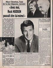 Coupure de presse Clipping 1987 Rock Hudson & Marc Christian  (1 page)