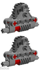2 Lego GEAR  REDUCERS for EV3  (technic,mindstorms,nxt,gearbox,worm,red,robot)