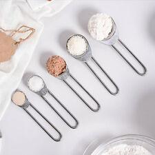 5Pcs/set Stainless Steel Measuring Spoons For Dry Liquid Baking Metal Teaspoon
