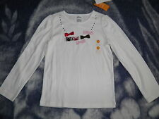 "GYMBOREE ""Holiday Traditions"" Bows Sparkle Jems Top Size 7~ NEW!"