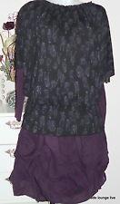 NTS Not the same Blouse Valdis Bat Sleeve M 38 black Fuguren Pattern