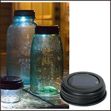 Country/Primitive/Farmhouse/Cottage Solar Lid For Mason Jar - Rustic Brown