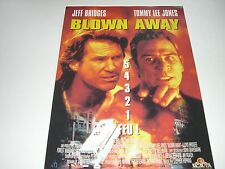 AFFICHE PROMO VIDEO CLUB--BLOW AWAY--BRIDGES/LEE JONES/HOPKINS