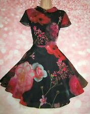 TED BAKER 'Eudorra' Torchlit Floral Occasion Dress 8 (Ted Size 1) - Exquisite!