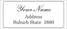 54 Personalised Return Address Labels / Stickers 48x20 mm Laser Printed
