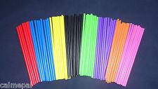 "Coloured Plastic Lollipop  Cake Pop  Craft Sticks 6"" (150mm)"