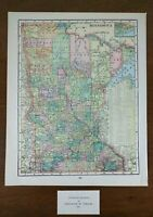 "Vintage 1903 MINNESOTA Map 11""x14"" ~ Old Antique Original DULUTH STILLWATER"