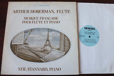 FRENCH MUSIC FOR FLUTE & PIANO LP HOBERMANN CRYSTAL AVANT NM (1978) AV-1015 USA