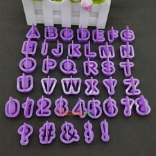 Alphabet Number Plastic Cookie Fondant Mould Cake Icing Decor Letter Cutter Set