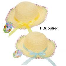 Easter Arts Craft Bonnet Egg Hunt - Bonnet Summer Hat with Ribbon