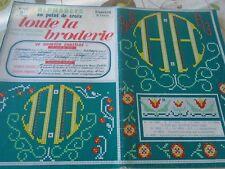 ANCIEN **ALBUM ALPHABETS COMPLETS TOUTE LA BRODERIE PT DE CROIX N°140 1967
