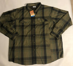 Columbia Silver Ridge Lite Plaid Long Sleeve Shirt Vented Shirt NEW Mens 3XL $70