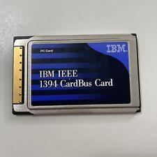 Ibm Ieee 1394 CardBus Card Pc Card Fru 19K5686 Pn 19K5680 Excellent Condition