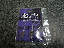 More details for buffy the vampire slayer new, sealed vintage and rare ear rings 1999