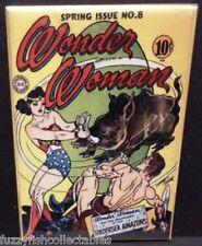 "Wonder Woman #8 Vintage Comic Cover 2"" x 3"" Fridge Locker Magnet"