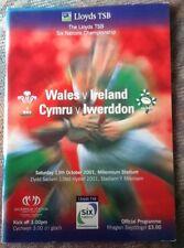 2001 WALES v IRELAND programme