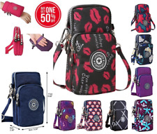 Women Oxford Mobile Cell Phone Shoulder Bag Pouch Case Handbag Purse Wallet