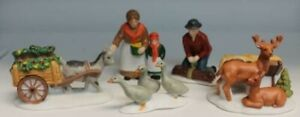Dept 56 Dickens Village Farm People and Animals #59013 Set of 5