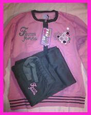 Frutta Jeans nightwear tuta/pigiama cotone felpato donna rosa grigio nero tg.M