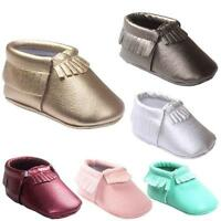 Baby Tassel Soft Leather Shoes Infant Boy Girl Toddler Moccasin 0-18 Months