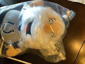 """Indianapolis Colts 14"""" Standing Santa Claus doll/stuffed figure - Forever - NEW"""