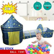 3pcs Kids Play Tent Castle Toddlers Crawling Yard Tunnel Playhouse Ball Pool Gr