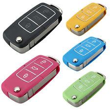 3 Botón Varios Colores sin cortar coche a control remoto CLAVE FOB CASO PARA VW Rosa Verde Azul