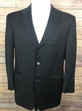 CANALI For Bloomingdales Blazer 50R 40R(US) Black 3 Button 100% Wool Sport Coat