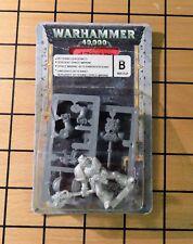 40k Rare oop Vintage Blister Metal Space Marine Veteran Sergeant w/ Power Ax NIB